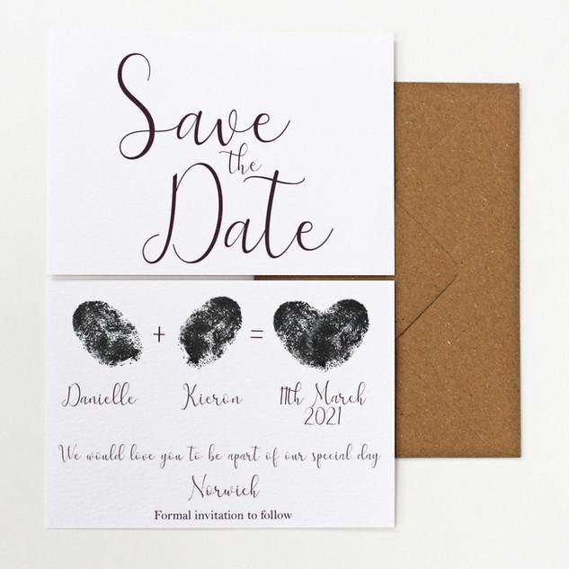 Thumb Print Save the Dates