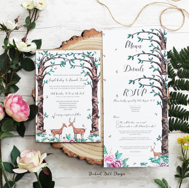 Woodland Invitations