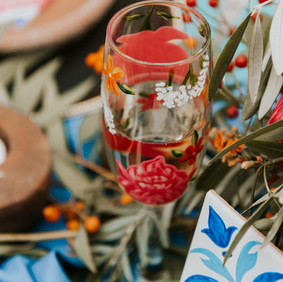Spanish Fiesta Floral Flutes