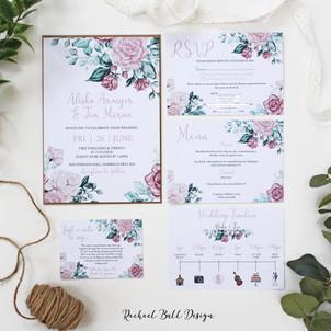 Mauve Roses Invitation