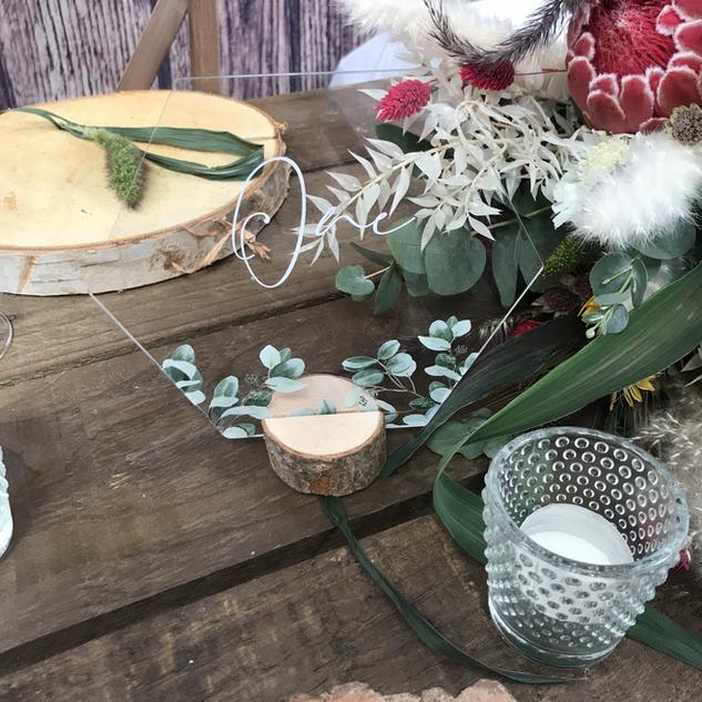 Eucalyptus Acrylic Table Numbers