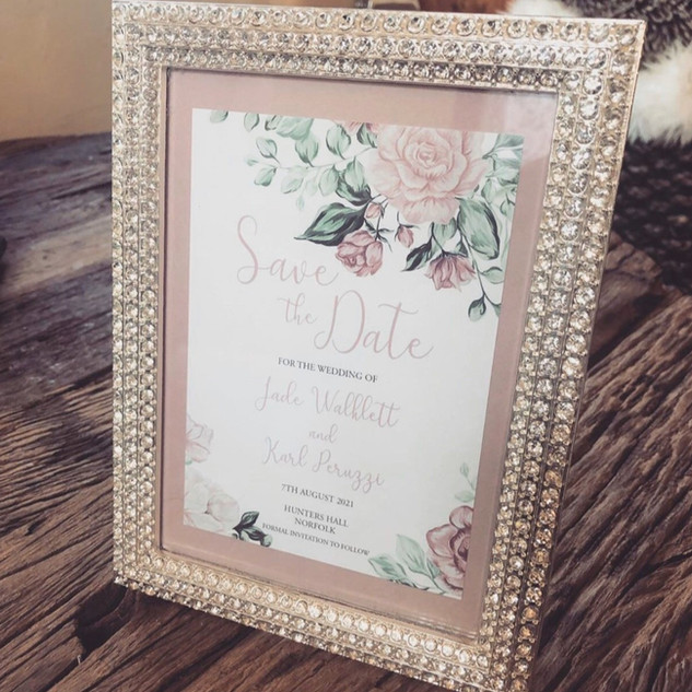 Mauve Rose Floral Save the Date