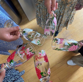 Mixed Pink Floral Flutes