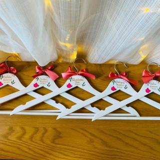 Hot pink hangers