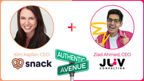 Let's Get Phygital: Snack CEO Kim Kaplan with JUV CEO Ziad Ahmed