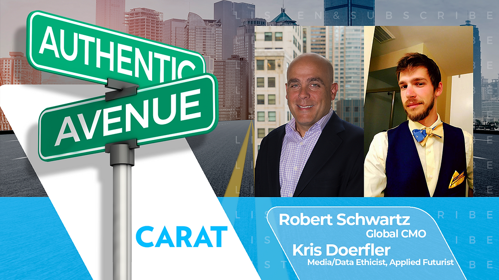 This is the Authentic Avenue podcast episode featuring Robert Schwartz and Kris Doerfler from Carat, with host Adam Conner.