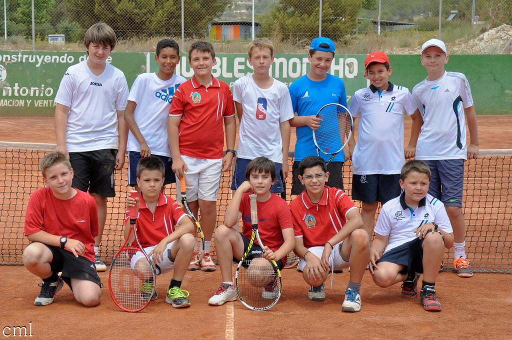 Equipo masculino junior tenis
