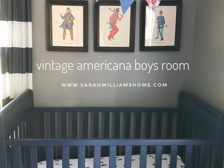 Boys Vintage Americana Shared Nursery/Toddler Room Reveal