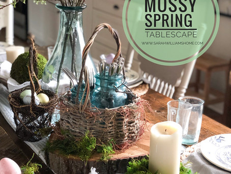 Mossy Spring Tablescape
