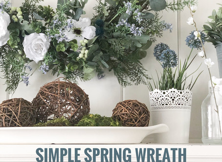 "Simple ""NO GLUE"" Spring Wreath"