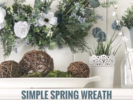 "Simple ""NO GLUE"" Spring Wreath"