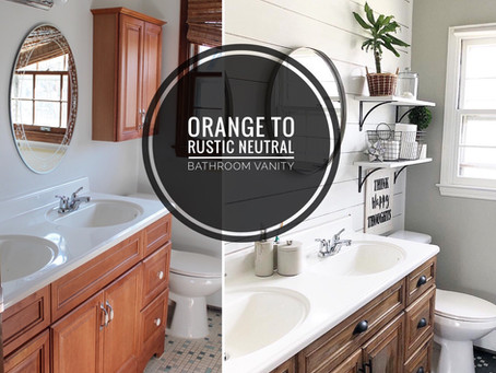 How to Re-Finish an Outdated Bathroom Vanity