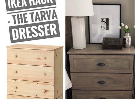 "Ikea Tarva Dresser To""Restoration Hardware"" Inspired Nightstand"
