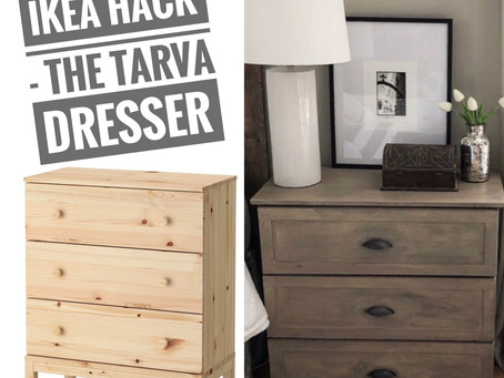 "Ikea Tarva Dresser To""Restoration Hardware"" Inspired Nightstand"