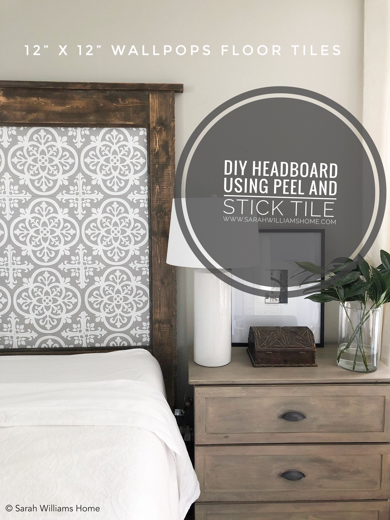 Diy King Sized Headboard With Peel And Stick Tile