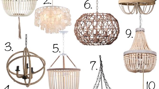 10 Coastal Chandeliers under $200 - Affordable Dining Room Lighting