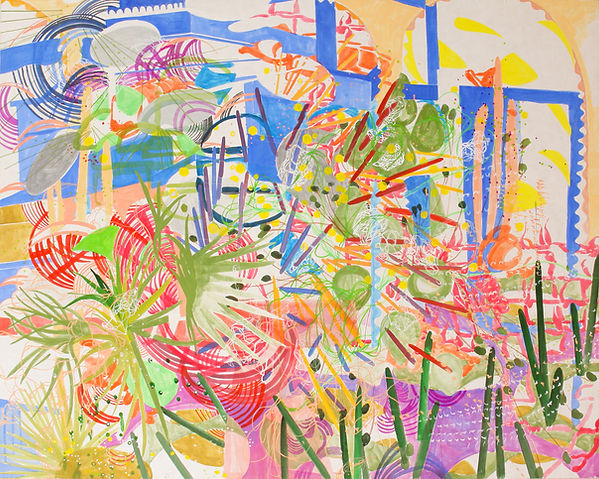 Jardin Majorelle, 162 x 130 cm, Korean pigment on Korean paper, 2014
