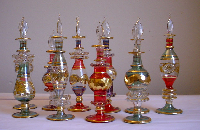 Mouth Blown Perfume Glass Bottles