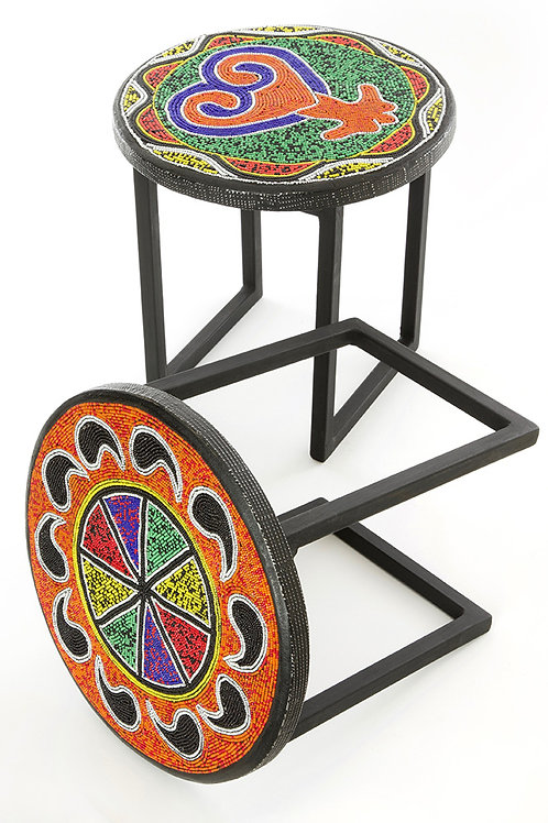 Beaded Rainbow Plant Stand