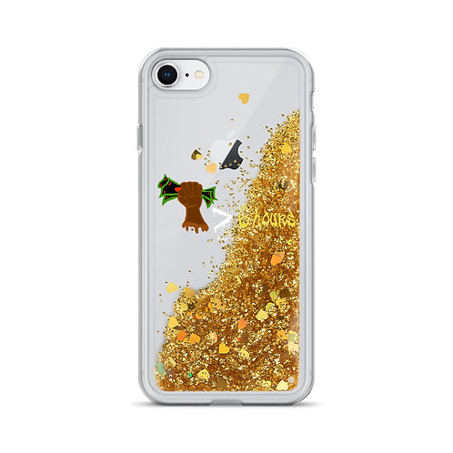 My money is Greater Liquid Glitter Phone Case