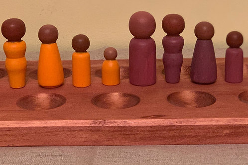 Ten Frame with 10 Wooden People