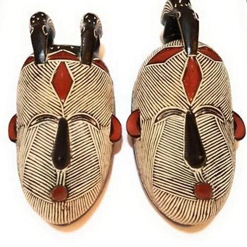Man & Woman Songi Wood Masks