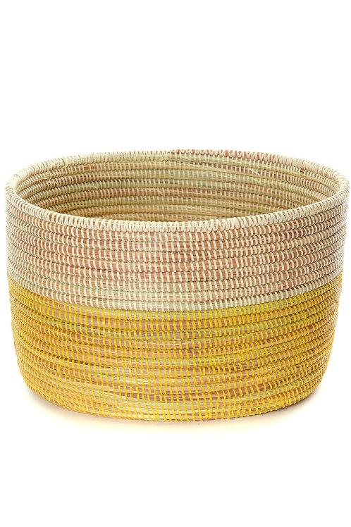 Lemon Dipped Knitting Basket