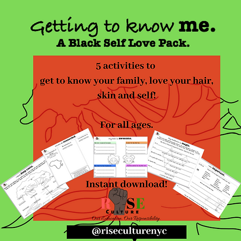 Getting to Know ME: A Black Self Love Pack.