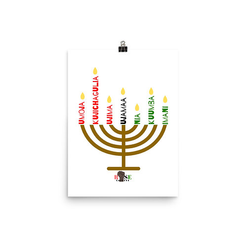 Kwanzaa Kinara Enhanced Matte Paper Poster