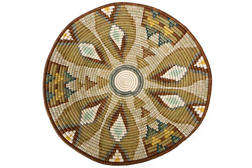 """27"""" Extra Large Sand Fleur Plate Woven Wall Art Plate"""
