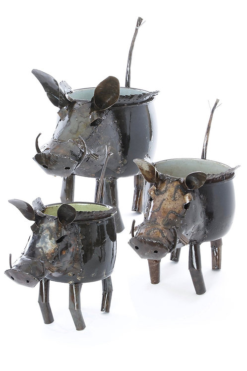 Recycled Wart Hog Planters