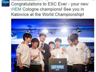 ESC 에버, IEM 월드 챔피언십 출전권 획득
