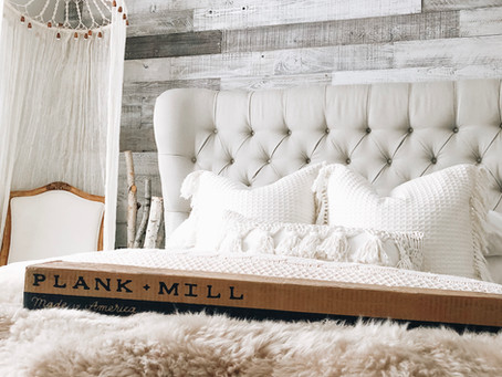 It's a Plank and Mill Accent Wall DIY Project, Honey!