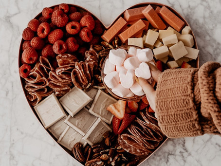 It's a Valentine's Day Charcuterie Board, Honey!