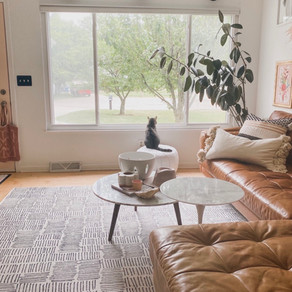 It's a Living Room Transformation with a New Bow Window, Honey!