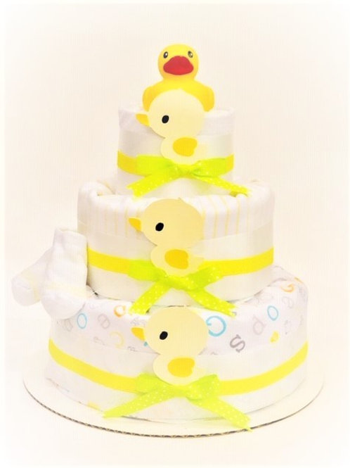 Yellow Ducky - Baby Diaper Cake - Baby Boy or Girl