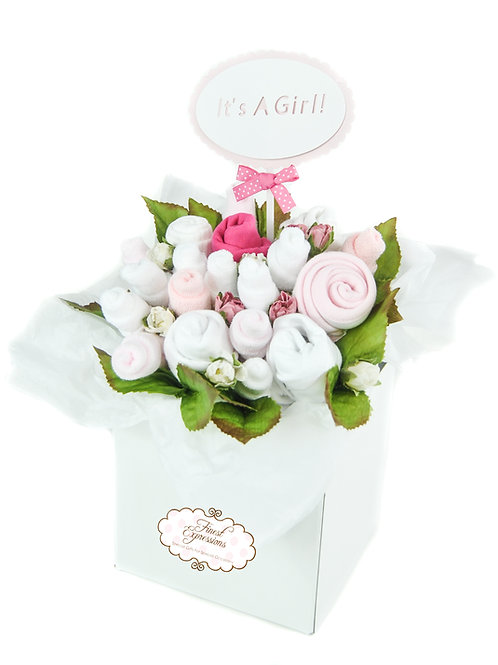 Baby Girl Clothing Bouquet (Pink)