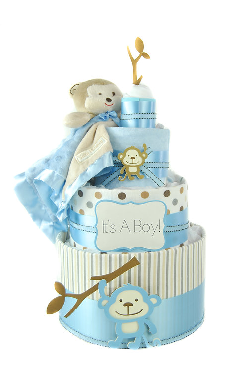 Baby Monkey - Baby Boy Diaper Cake