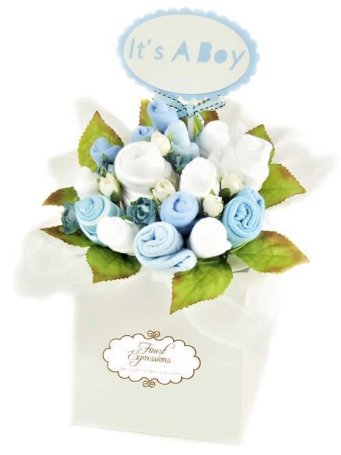 Baby Boy Clothing Bouquet (Blue)