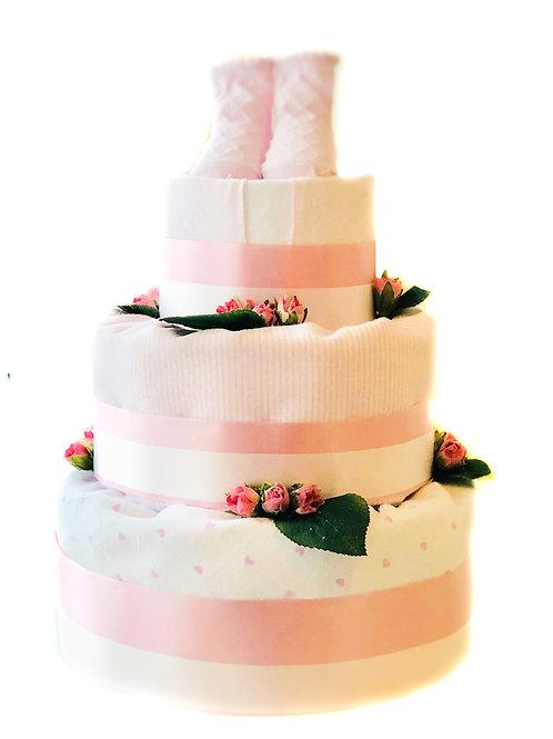 Sunshine Baby - Baby Girl Diaper Cake (Pink)