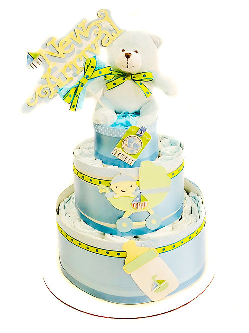 New Arrival - Baby Diaper Cake- Baby Boy Or Girl