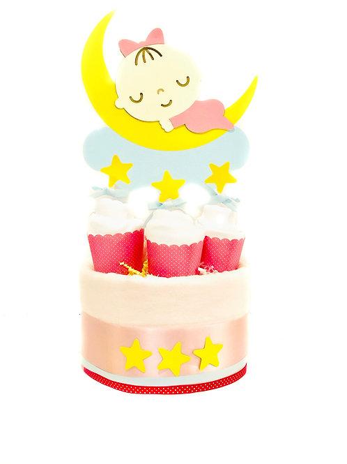 Twinkle Twinkle Little Star - Baby Girl Diaper Cake