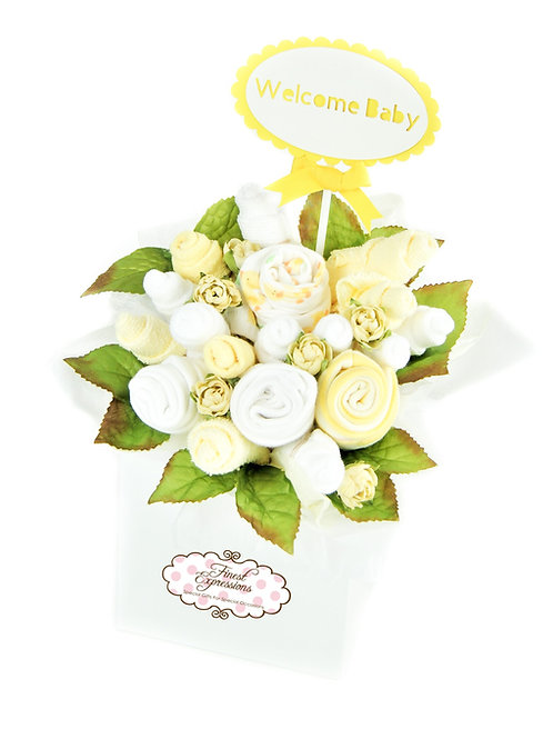 Yellow Baby Clothing Bouquet