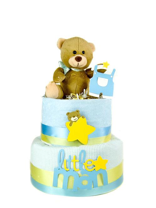 Sweet Teddy -  Baby Diaper Cake