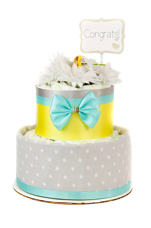 Welcome New Baby - Baby Diaper Cake - Boy or Girl