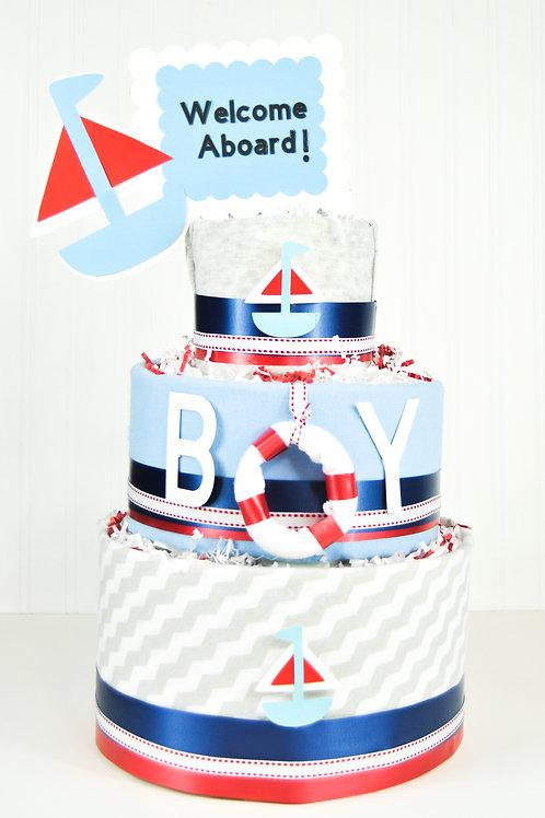 Nautical Themed - Baby Boy Diaper Cake