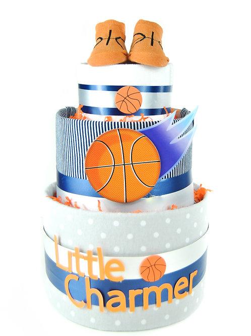 Little Charmer Basketball Diaper Cake
