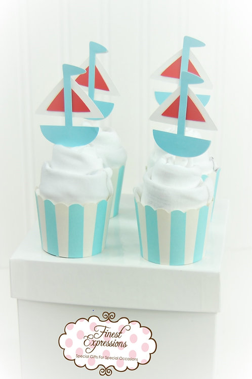 Lil' Sailor - Baby Onesie Cupcake