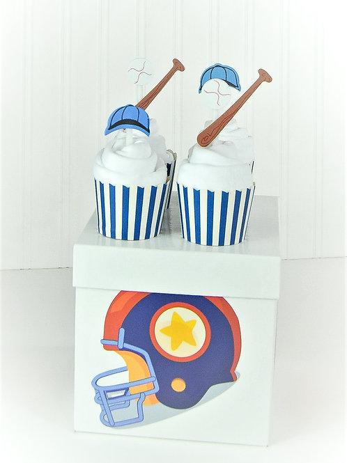 Baseball - Baby Onesie Cupcakes
