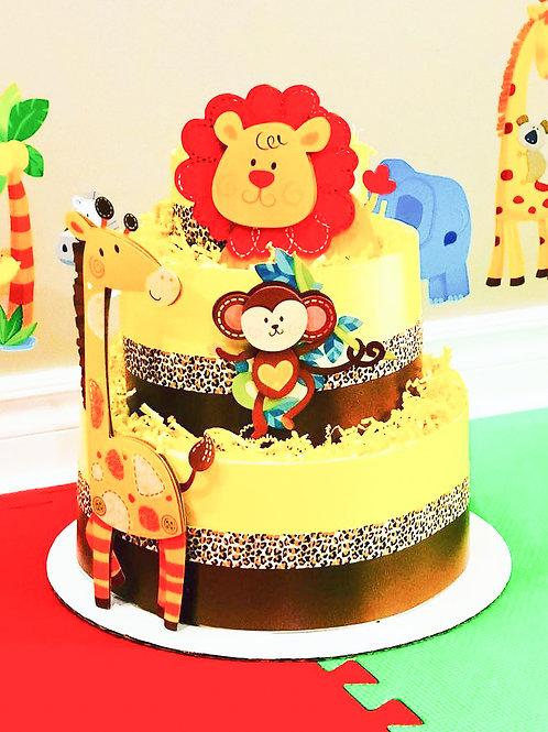 Roaring Lion Baby Diaper Cake